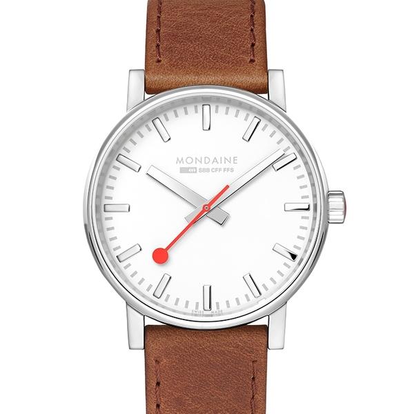 MONDAINE 瑞士國鐵evo2時光走廊腕錶-40mm / 銀棕 40110LG
