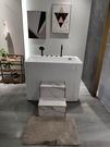 【麗室衛浴】特別開模超深泡澡缸 LS-1270 小空間坐缸 壓克力造型帶牆缸 一體成型長120*寬70CM高91