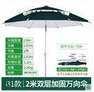 釣魚傘萬向防雨戶外釣傘折疊遮陽防曬折疊垂釣傘漁具用品5
