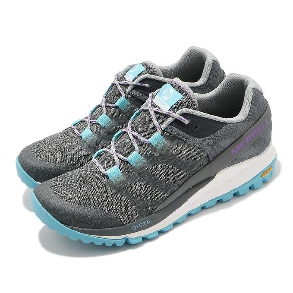 Merrell 戶外鞋 Antora 灰 藍 女鞋 登山鞋 郊山 健行 越野 低筒 【ACS】 ML066126