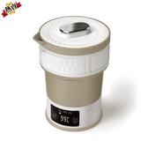 電熱水壺 旅行折疊迷你硅膠燒水壺便攜式水杯旅游出國用110V-230V 快速出貨