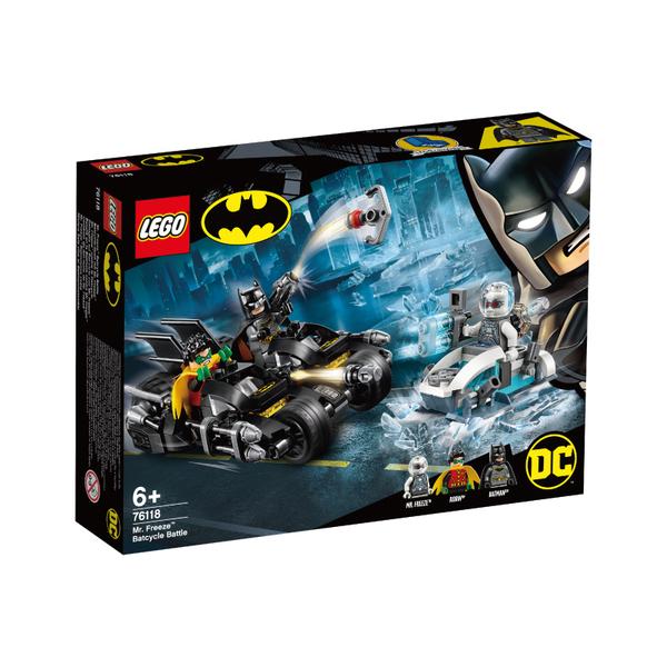 LEGO樂高 蝙蝠俠系列 76118 Mr. Freeze™ Batcycle Battle 積木 玩具