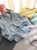 日系2021年春秋新款男童棉紗格子襯衣時尚百搭寬鬆帥氣長袖襯衫潮 艾瑞斯
