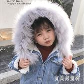 女童羊羔絨牛仔外套 時尚加厚2018韓版新款冬季上衣 BF15120『寶貝兒童裝』