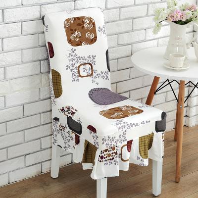 椅子套 家用椅套彈力連體餐桌椅子套罩凳子套罩酒店餐廳座椅套簡約布藝【8折搶購】