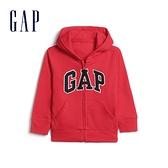 Gap男幼童 Logo毛圈內裡連帽外套 567921-紅色