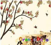 壁貼【橘果設計】梅花枝條 DIY組合壁貼/牆貼/壁紙/客廳臥室浴室幼稚園室內設計裝潢