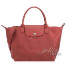 茱麗葉精品【全新現貨】Longchamp Le Pliage Neo折疊厚尼龍兩用包.磚紅#1512