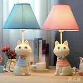鐵尾貓咪兒童臥室床頭LED可調光檯燈xx6073【野之旅】TW