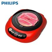 [PHILIPS 飛利浦]不挑鍋黑晶爐-紅 HD4989