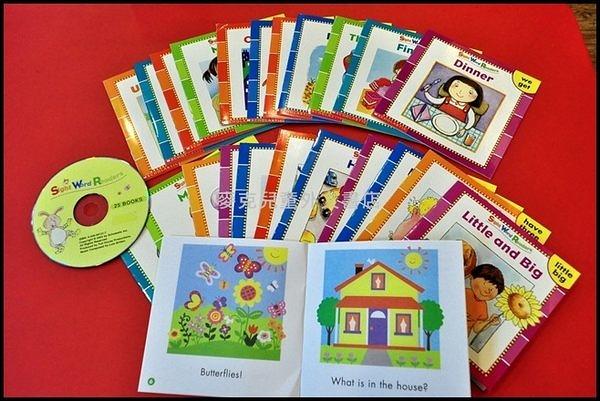【麥克書店】SIGHT WORD READERS /25書+1CD 《關鍵字學習小書》※2013年暢銷之最※