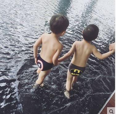 [現貨+預購]2017兒童泳衣男童三角泳褲韓國可愛嬰兒寶寶遊泳褲小孩卡通遊泳衣