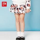 JJLKIDS 女童 時尚潮童俏皮小狐狸裙子(黑色)