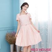 【RED HOUSE 蕾赫斯】花瓣領點點洋裝(粉色)