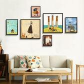 北歐風格裝飾畫兒童臥室有框掛畫書房餐廳復古油畫小清新墻面壁畫WY【店慶滿月好康八折】