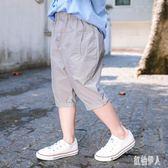 男童七分褲夏季休閒薄款2019新款兒童短褲夏裝寶寶棉質中小童寬鬆中褲 GD2022『紅袖伊人』