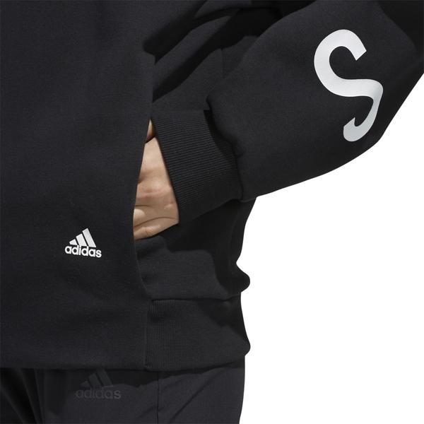 【現貨】ADIDAS S2S 女裝 長袖 休閒 刷毛 口袋 背後LOGO 黑【運動世界】ED1513