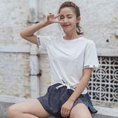 舒適透氣寬鬆顯瘦跑步健身運動上衣女訓練T恤速干衣瑜伽短袖罩衫
