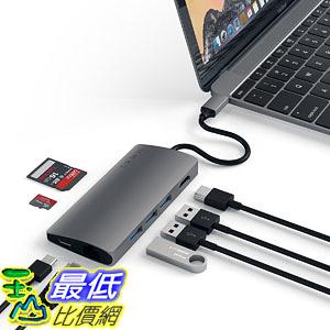 適配器 Satechi Aluminum Multi-Port Adapter V2-4K HDMI (30Hz), Gigabit Ethernet, USB-C Pass
