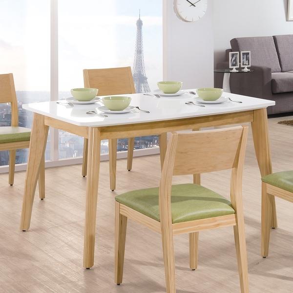 OB004-奧斯卡雙色4.3尺餐桌(19HY2/B456-04)【DD House】