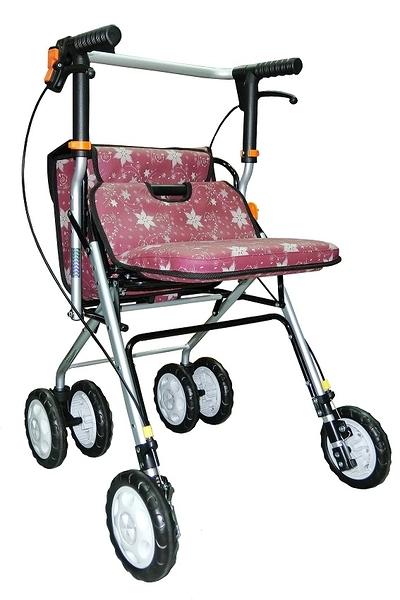 鋁製散步車(購物車/健步車)FZK717紅色