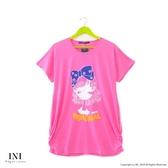 【INI】週慶限定、休閒著感風格長版上衣.粉色