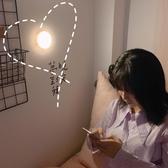 少女心放映室 可充電觸摸小夜燈帶磁鐵 宿舍LED拍拍燈 寢室床頭燈 喵小姐