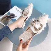 包頭半拖鞋外穿外出穆勒鞋時尚【極簡生活館】