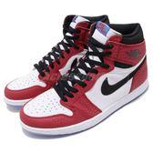 Nike Air Jordan 1 Retro High OG Origin Story 紅 黑 皮革 蜘蛛人 喬丹1代 男鞋 運動鞋【PUMP306】 555088-602