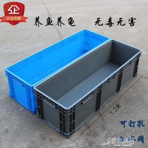 周轉箱 塑料周轉箱長方形特大號箱水產養殖膠箱烏龜筐物流框【快速出貨】