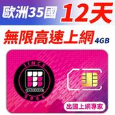 【TPHONE上網專家】歐洲全區多國 12天 無限上網卡 前4GB支援4G高速 土耳其可以使用
