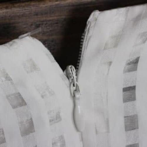 5天出貨★正韓 洋裝 連身裙 ★春格子紋透視修腰顯瘦短袖拉鍊★ifairies【21051】