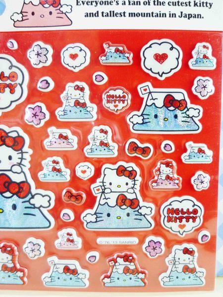 【震撼精品百貨】Hello Kitty 凱蒂貓~KITTY立體貼紙-富士山