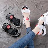 夏季涼鞋~涼鞋夏季2019新款仙女風百搭超火網紅運動時尚女鞋學生潮-薇格嚴選