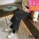 休閒褲-Tirlo-顯瘦厚毛呢鬆緊寬褲-...