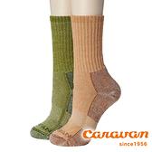 【Caravan】美麗諾羊毛登山健行襪 (2入)『882 淺棕+橄欖綠』登山襪 保暖襪 健行襪 0142001