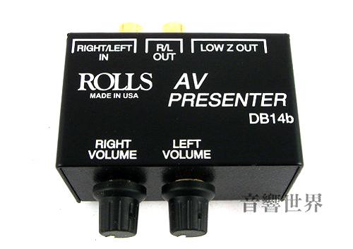音響世界】美國Rolls DB14 AV訊源轉平衡訊號器 》Made in USA