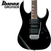 【非凡樂器】Ibanez GRG170DX 原廠電吉他/全配件贈送/原廠保固一年【黑色】
