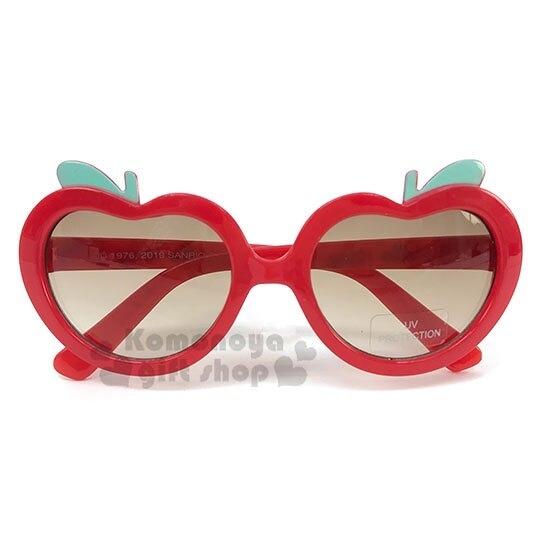 〔小禮堂〕Hello Kitty 兒童造型抗UV太陽眼鏡《紅棕.蘋果》墨鏡.2019夏日兒童服飾 4901610-00297