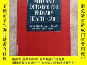 二手書博民逛書店measures罕見of need and outcome for primary health care初級衛生