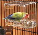 餵食器鸚鵡防灑自動喂食器鳥下料器鳥籠食盒防撒適合小中大型鸚鵡 潮人女鞋