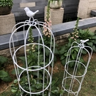 鐵藝攀藤植物花藝鐵線蓮架子綠蘿月季花架爬藤架小鳥籠造型支架桿 夢幻小鎮