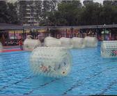 充氣水上滾筒球大型游樂設施成人玩具全進口tpu水上步行球加厚pvc 艾維朵  igo