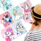 【Disney 】時尚質感彩繪貼鑽三折鏡/隨身鏡/折疊化妝鏡