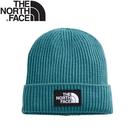 【The North Face LOGO柔軟保暖針織帽《風暴藍》】3FJX/保暖帽/毛線帽/防寒/登山
