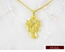 9999純金 黃金 設計款 花語系列  墜飾 墜子 送精緻皮繩項鍊