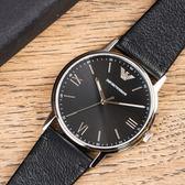 EMPORIO ARMANI 亞曼尼 AR11013 簡約墨黑時尚個性腕錶 熱賣中!