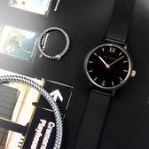 PH PAUL HEWITT / PH-SA-B-XS-BSR-45S / 細緻迷人 藍寶石水晶玻璃 瑞士機芯 米蘭編織不鏽鋼手錶 鍍黑 28mm