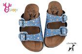 Wonder Go 真皮女童拖鞋 中童 台灣製休閒拖鞋 F5284#藍色◆OSOME奧森童鞋