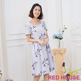 【RED HOUSE 蕾赫斯】花朵刺繡洋裝